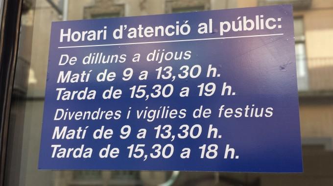 Horario de vigilias de festivos en Grup Carles