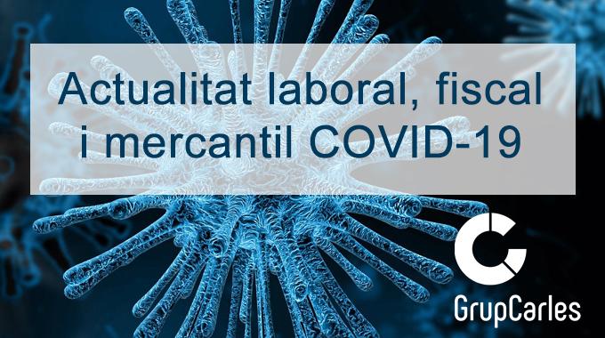 Novetats relacionades amb el COVID-19: 16/03/2020