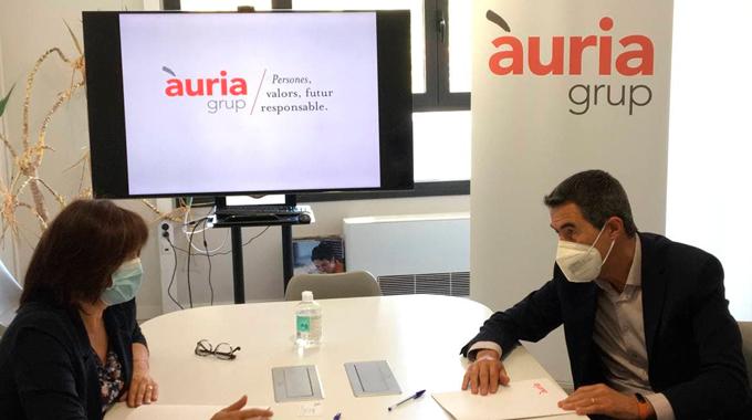 Grup Carles i Àuria Fundació signen un conveni de col·laboració per impulsar l'emprenedoria al territori